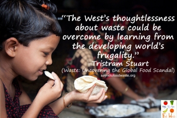 Stuart west.saynotofoodwaste.sustainable.food.green.read.book.foodquote