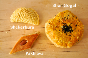 pastries.sweets.shekerbura.pakhlava.shorgogal.novruz.happy.celebration