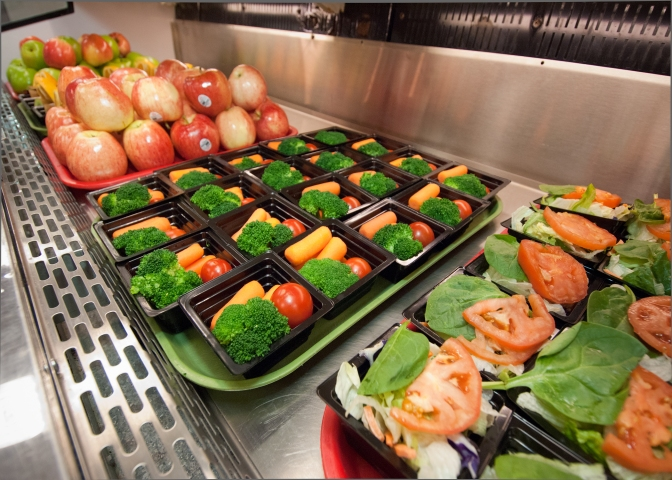 School Breakfast and School Lunch at Washington-Lee High School Arlington, Virginia, saynotofoodwaste, eat healthy, sustainable, happy