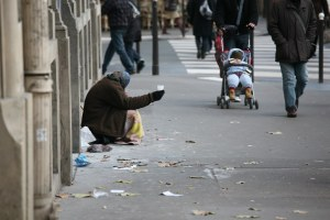 Begging in Paris