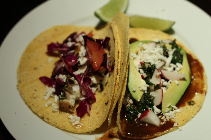 Midweek Delicacy: Chipotle Bean Tacos vs Fish Tacos with ChimichurriSauce