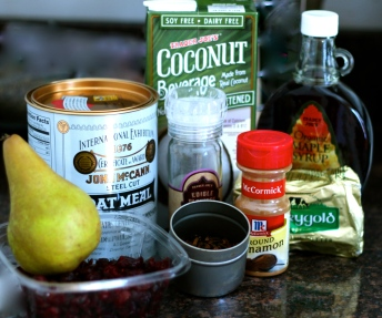 Coconut Steel-cut Oats Ingredients