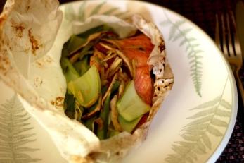 Miso Glazed Salmon en Papillote