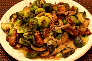 Roasted Brussel Sprouts w/Mushrooms