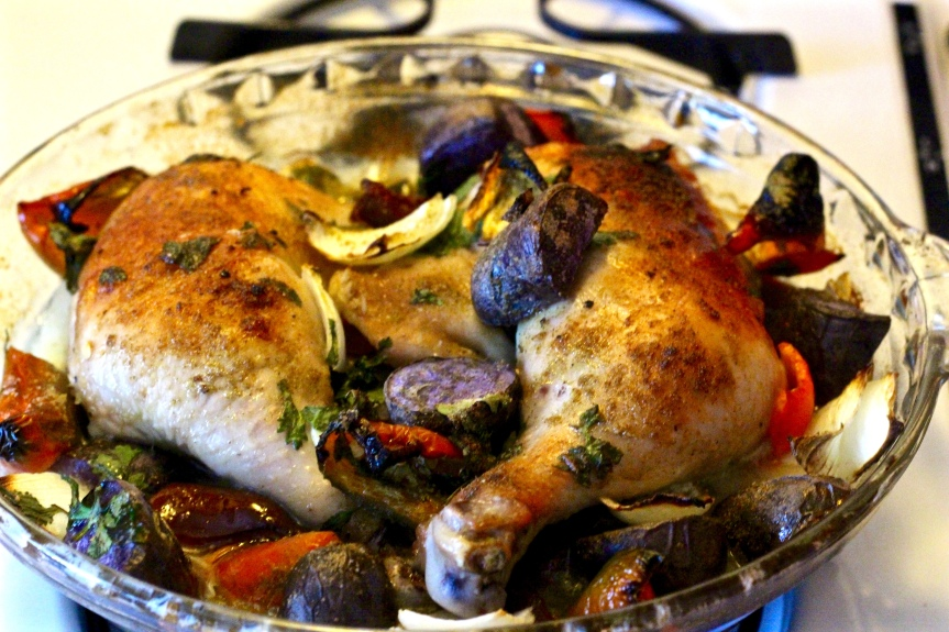 Midweek Delicacy Time: Latin Roasted Chicken with Poblano Peppers & Peruvian Potatoes